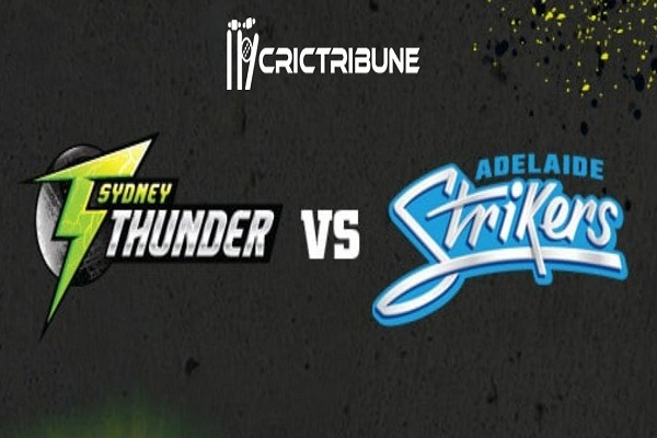 THU vs STR Live Score Knockout of BBL 2020 between Sydney Thunder vs Adelaide Strikers on 01 February 2020 Live Score & Live Streaming