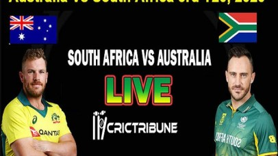 SA vs AUSLive Score 3rd T20 Match between South Africa vs Australia Live on 26 February 20 Live Score & Live Streaming