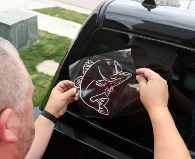 Create car decals and stickers with your Cricut machine and sell at high traffic events and occasions.