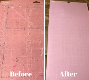 How to clean your Cricut mat at home