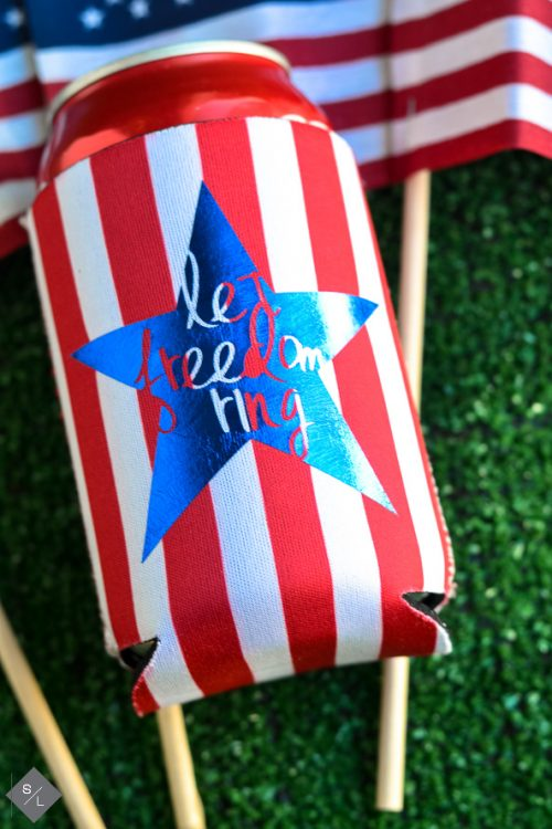 4th of July drink koozies to make with your cricut