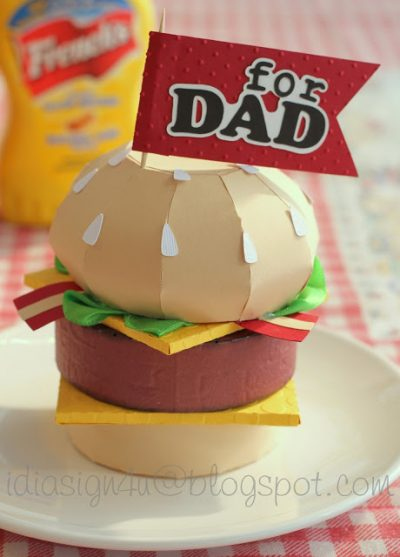 Cheeseburger Father's Day Card. You can open it up and put a gift card inside of it.