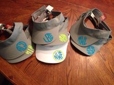 Love these sun visors! Can't wait to monogram mine with my cricut