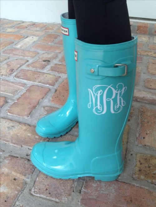 LOVE THESE monogrammed boots. Can't wait to try this with my cricut