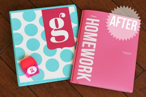 Personalize school supplies for the kids. Great idea for Cricut!