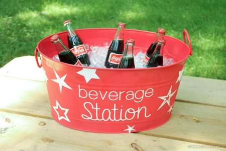 Create a beverage station for summer using vinyl lettering made with your Cricut