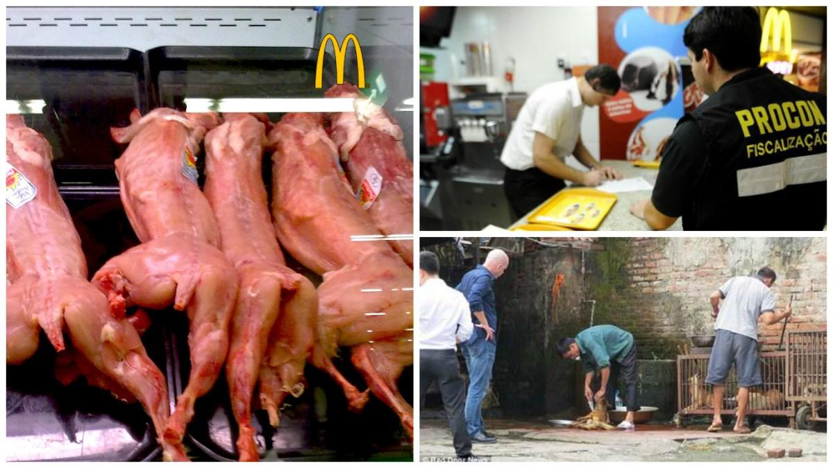 A Polícia Federal comprovou que o McDonald´s usa carne de cachorro?