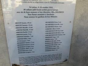 Cérémonie commémorative des enfants du Chateau de la Verdière à Marseille