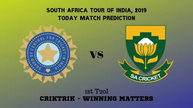 ind vs rsa 1st t20 match prediction - India vs South Africa, 1st T20 Today Match Prediction - 15/9/2019