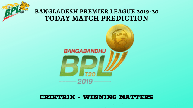 BPL 2019 20 match prediction - CGC vs RSR Today Match Prediction - 36th T20, BPL 2019-20
