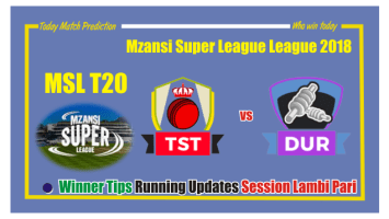 Who Win Today Tshwane Spartans vs Durban Heat MSL 2018 6th Match