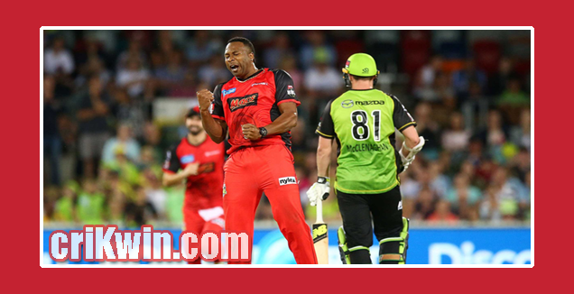 Who Win Today BBL 2018-19 3rd Match Melbourne Stars vs Sydney Thunder
