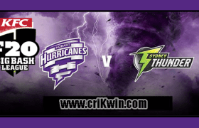 Who Win Today BBL 2018-19 11th Match Hobart vs Thunder
