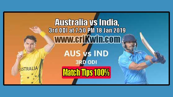AUS vs IND Today Match Reports 3rd ODI 100% Sure Match Prediction
