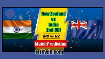 IND vs NZL Today Match Reports 2nd Odi 100% Sure Match Prediction