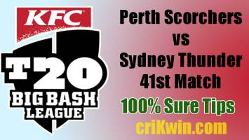 PRS vs SYT Today Match Reports BBL 41st 100% Sure Match Prediction