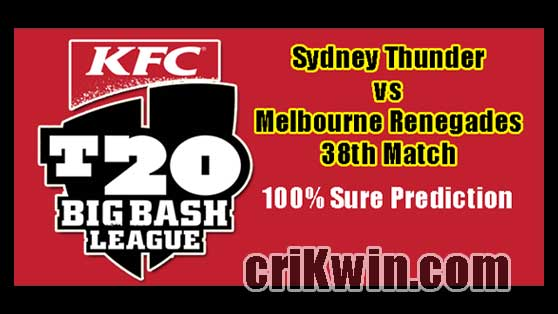 SYT vs MLR Today Match Reports BBL 38th 100% Sure Match Prediction