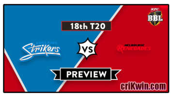 Who Win Today BBL 2019 18th Match Melbourne Renegades vs Adelaide Strikers
