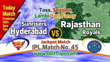 IPl 2019 SRH vs RR 45th Cricket Match Prediction 100% Sure