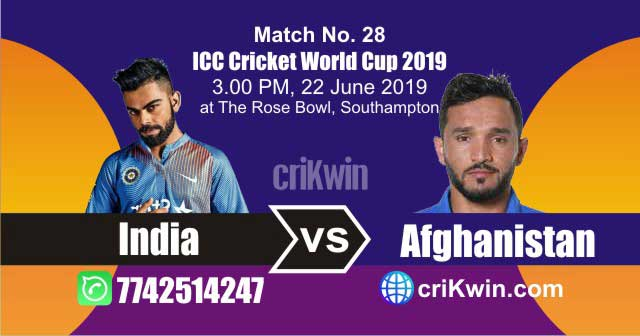 Afg vs Ind 28th Match World Cup 2019 Winner Astrology Predict