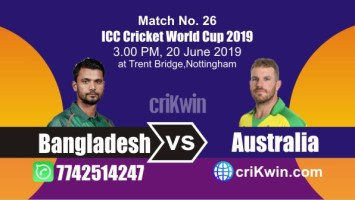 Aus vs Ban 26th Match World Cup 2019 Winner Astrology Predict
