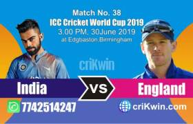 Eng vs Ind 38th Match World Cup 2019 Winner Astrology Predict