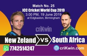 NZL vs SA 25th Match World Cup 2019 Winner Astrology Predict