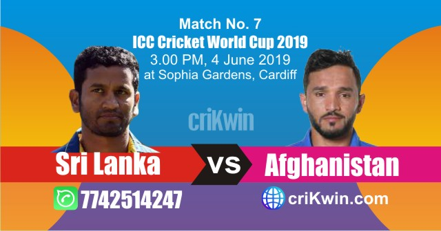 World Cup 2019 Sri Lanka vs Afghanistan 7th Match Win Prediction