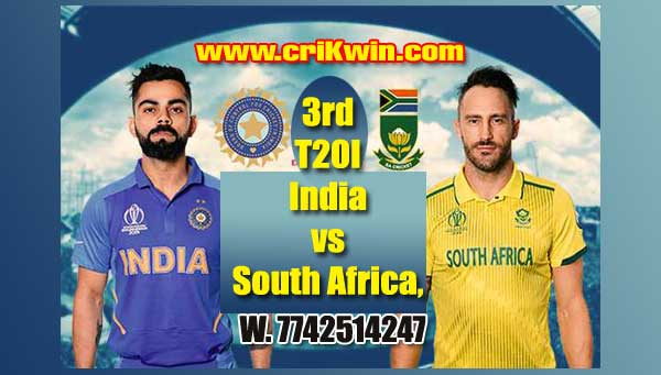 3rd T20 Today Match Prediction Raja Babu RSA vs Ind Cricket Prediction Match Who will win today IND vs SA