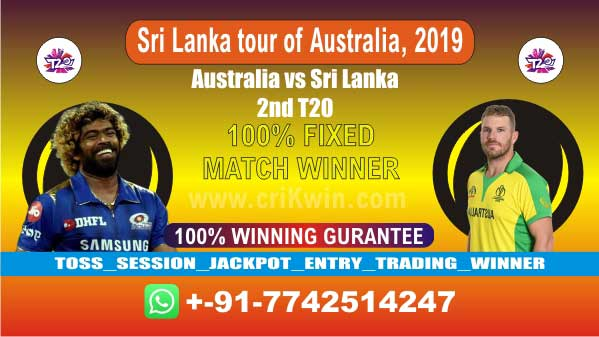2nd T20 100% Sure Today Match Prediction winning chance of AUS vs SL Cricket True Astrology Winner Toss Tips Who will win today