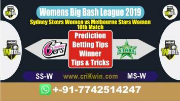 WBBL 2019 100% Sure Today Match Prediction winning chance of SSW vs MSW 10th Cricket True Astrology Winner Toss Tips Who will win today