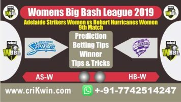 WBBL 2019 100% Sure Today Match Prediction winning chance of HBW vs ASW 9th Cricket True Astrology Winner Toss Tips Who will win today