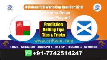 Today Match Prediction winning chance of OMN vs SCO Play off Cricket True Astrology Winner Toss Tips Who will win today