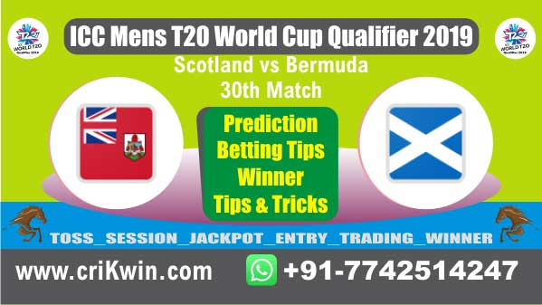 WC T20 Qualifier 100% Sure Today Match Prediction winning chance of BER vs SCO 30th Cricket True Astrology Winner Toss Tips Who will win today