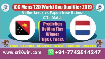WC T20 Qualifier 100% Sure Today Match Prediction winning chance of PNG vs NED 27th Cricket True Astrology Winner Toss Tips Who will win today