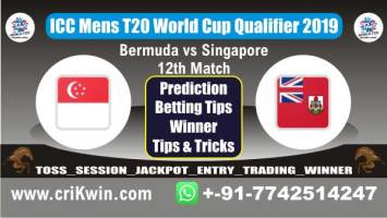 ICC T20 Qualifier 100% Sure Today Match Prediction SIN vs BER 12th T20 Match Cricket True Astrology Winner Tips Toss Reports Ber vs Sin Who will win today