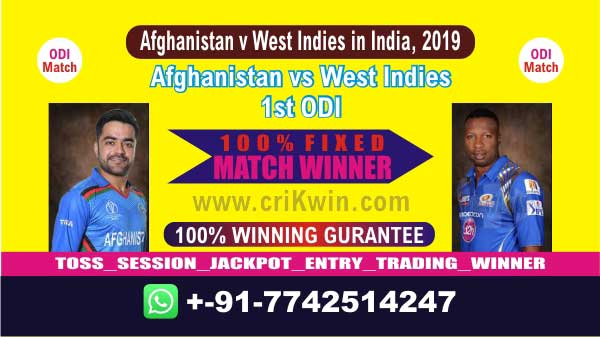 1st ODI Today Match Prediction AFGH vs WI Match Who Will Win 100%