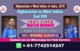 2nd ODI Today Match Prediction WI vs AFGH Match Who Will Win today
