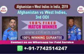 3rd ODI Today Match Prediction WI vs AFGH Match Who Will Win
