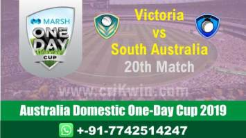 Marsh One Day Cup Match Prediction SAU vs VCT 20th Who Will Win