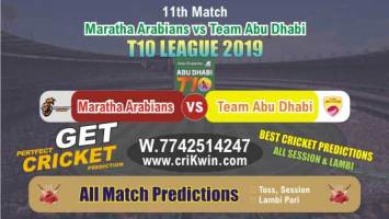 T10 League 2019 Today Match Prediction MAR vs TAB 11th Who Will Win