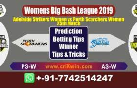 WBBL 2019 Today Match Prediction AS-W vs PS-W 25th Match Will Win