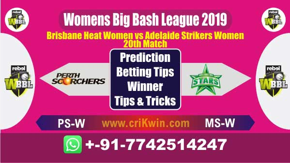 WBBL 2019 Today Match Prediction BH-W vs AS-W 20th Match Who Win