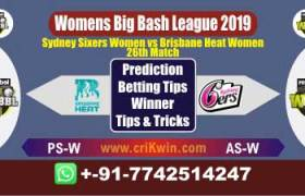 WBBL 2019 Today Match Prediction BHW vs SSW 26th Match Will Win