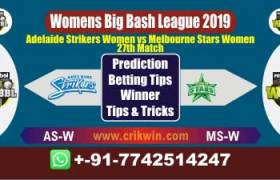 WBBL 2019 Today Match Prediction MSW vs ASW 27th Match Will Win
