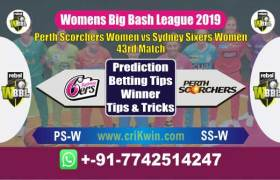 WBBL Today Match Prediction SS-W vs PS-W 43rd Match Who Will Win