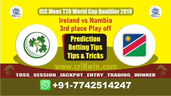 WC T20 Qualifier Today Match Prediction NAM vs IRE 3rd place Play off Match Who Will Win