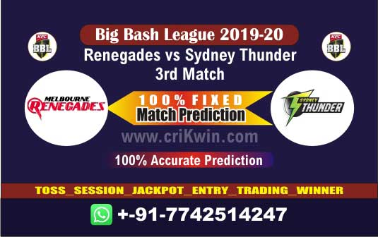 BBL 2019-20 Today Match Prediction THU vs REN 3rd 100% Sure Win