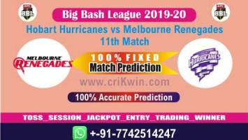 BBL T20 2020 Today Match Prediction REN vs HUR 11th 100% Sure Win