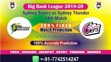 BBL T20 2020 Today Match Prediction SYT vs SYS 14th 100% Sure Win
